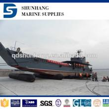 Sacola inflável da borracha inflável do equipamento marinho do certificado do diâmetro 1.8mx 20m CCS