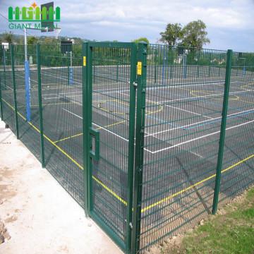 PVC-überzogener niedriger Preis-geschweißter Maschendraht-Zaun