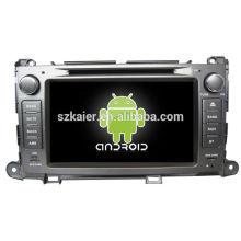 Система DVD-плеер автомобиля андроида для Тойота Сиенна с GPS,Блютуз,3G и iPod,игры,двойной зоны,управления рулевого колеса
