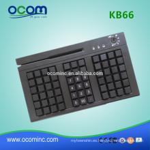 KB66 Teclado programable de 66 teclas con lector de tarjetas opcional