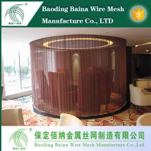 Металлическая декоративная проволочная сетка для использования в архитектуре