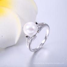 Anillo de joyería de moda más popular Anillo de joyería de perla fabricante de China