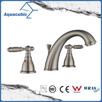 Contemporary Bathroom Double Handle Sink Faucet (AF4410-6BN)