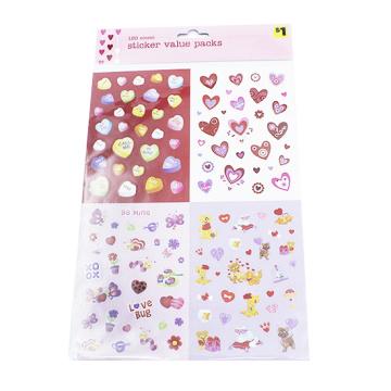 Pegatina de colores PVC deco Estrella Corazón Alfabeto Número de adhesivos adhesivos para el teléfono diario Papelería útiles escolares Pegatinas