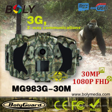 Scoutguard 30 megapíxeles, 1080P FHD, cámara de camino de versión nocturna 3G / MMS / GPRS