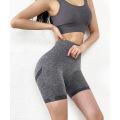 Shorts de yoga sin costuras con cintura alta