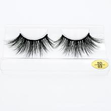 5D Real Mink Fur 25mm Strip Eyelash with Custom Box Private Logo Label