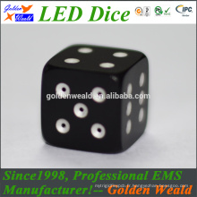 MCU control colorful LED CNC aluminium alloy dice
