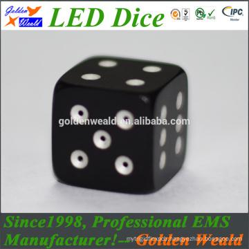MCU control colorful LED Gold color aluminium alloy dice