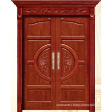 China Luxury Double Wooden Door with Carving