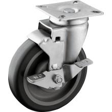 5-Inch TPU Wheel Swivel Plate Casters