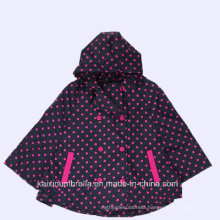Popular Design PU Coated Cloak Kids Raincoat