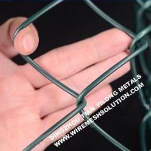 3.5 / 4.75mm Green Chain Link Fence for Construction