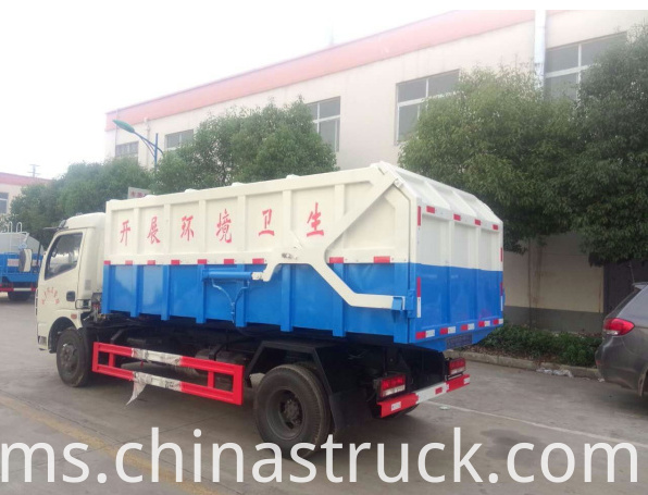 6Ton self-discharge refuse truck