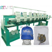 8 Heads 9 Needles Baseball Cap / Shirt Embroidery Machine