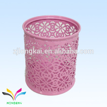 newest design pink colorful portable custom wholesale pen holder desk orgaziner