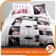 Tecido de poliéster escovado barato e mais vendido para lençol