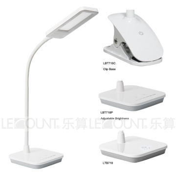 Lámpara de mesa de luz de panel LED con 3 pasos atenuación (LTB718P)