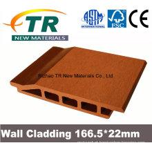 Painel de parede de plástico compósito de madeira durável