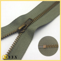 No3 Antique Brass C / E Metal Zipper