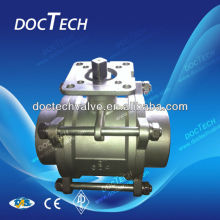 DN32 3 Piece Sanitary Floating Ball Valve3, WOG 2000 Heavy Type