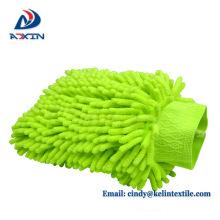 Único lado Chenille Material Limpando Poeira auto lã limpeza carro luva