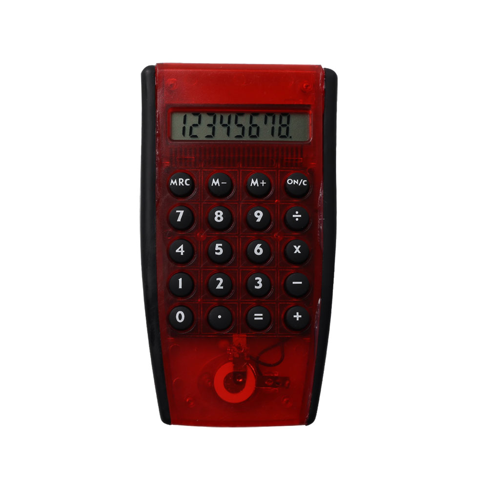 8 Digits Transparent Electronic Handhold Calculator