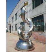 Modificado para requisitos particulares más moderno vendido Animal escultura de acero inoxidable para la decoración del jardín