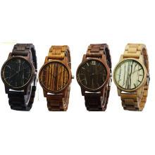 Relojes de pulsera de madera para hombre de 2017 nuevos relojes de madera de la moda