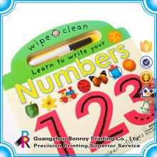 Libro de actividades para niños de diseño personalizado personalizado con lápices