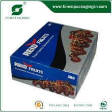 Caixa de papelão ondulado de envernizamento para frutas frescas