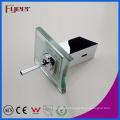 Fyeer Deck Mounted Chrome Plated Glass Waterfall Single Handle Bathroom Wash Basin Brass Faucet Water Sink Mixer Tap Wasserhahn