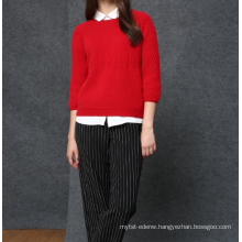 17PKCS494 2017 knit wool cashmere knitted lady sweater