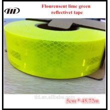 Cinta reflectante verde lima fluorescente grado diamante