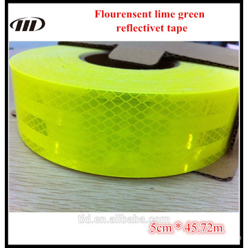 Diamond grade flouresent lime green reflective tape