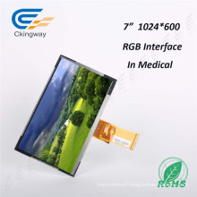"7""1024 (RGB) *600 50 Pin Resolution TFT LCD Module"