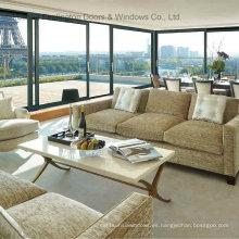 Puertas de vidrio de marco de aluminio residencial (FT-D126)