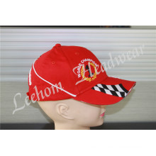 (LR14001) Racing Sports Custom Cotton Promotional Heavy Embroidery Patch Baseball Cap