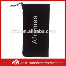 microfiber mobile phone and glasses drawstring pouch