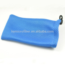 Portable high quality soft drawstring glasses mesh bag