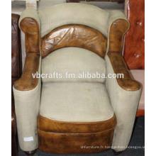 Toile en cuir Finition antique canapé moderne