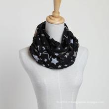 Nouveau style Grande taille Brand New Voile Star Scarf Châles de mode, Lady Scarf, écharpe en polyester