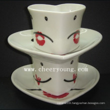 Ceramic Cup and Saucer (CY-P501B)