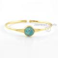 Türkis-Edelstein-Armband, 18k Gold tibetanische Türkis-Armband-Schmucksachen für Frauen