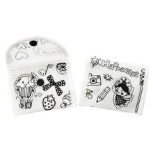 colorearme pp bolsas no tejidas con crayon DIY mini billetera