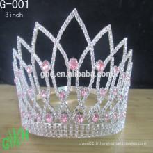 Couronne de tiare nuptiale personnalisée, cérémonie de mariage de tiare, couronne de tiare princesse