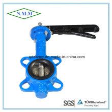 Válvula de borboleta de borracha de ferro dúctil com alça operada