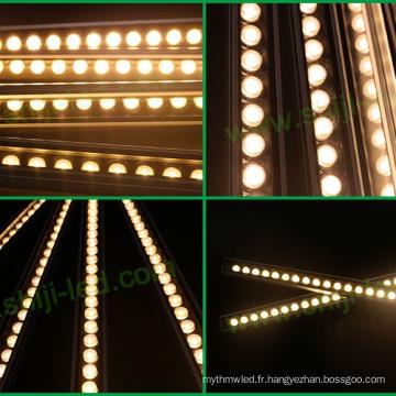 Barre de bande menée en aluminium de CC 12V / 24V, lumière menée par puissance élevée, bande menée linéaire