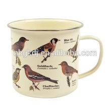 Pájaros del jardín - taza del esmalte Pájaros del jardín - taza del esmalte