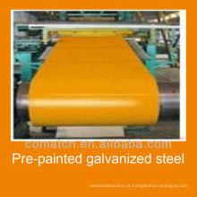 Bobina de aço galvanizada pré-pintada DX51D